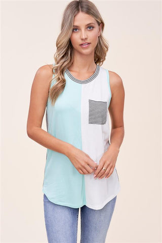 Striped Back Spring Tank