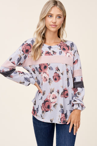 Hacci Floral Long Sleeve
