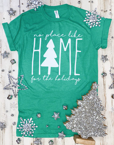 Home For The Holidays Tee - Size XS