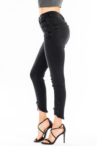 KanCan Distressed Black Skinny