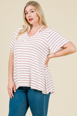 Cutout Shoulder Tee - Size 3X