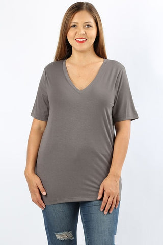 Basic V Neck Tee - Curvy