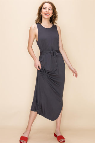 Waist Tie Tank Dress - Size Small