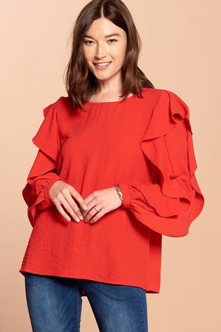 Scarlet Flutter Sleeve Top