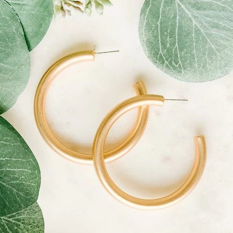 Matte Metal Hoop Earrings