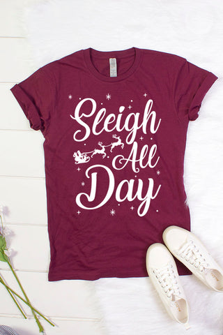 """Sleigh All Day"" Graphic Tee"