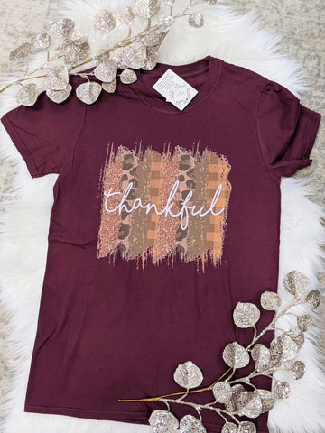 Thankful Stripe Tee