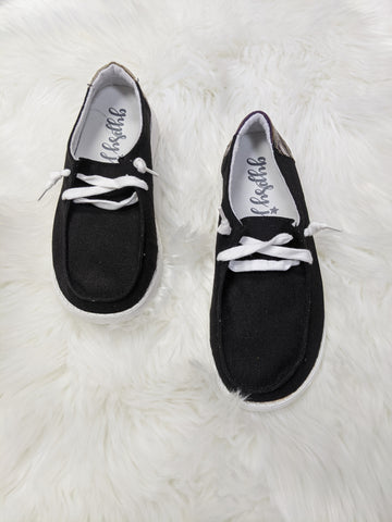 Black Poppy Sneakers