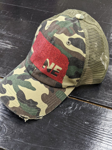 Camo Nebraska Ball Cap