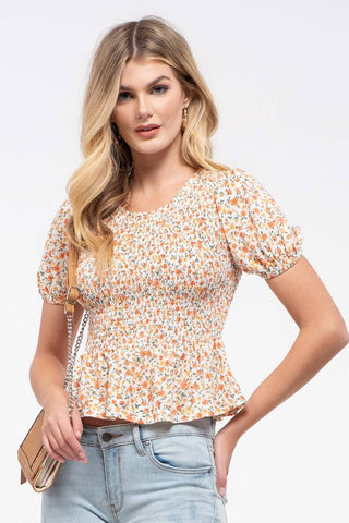 Ditzy Smocked Top