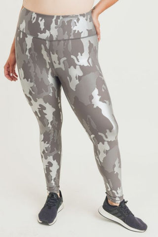 Foil Camo Leggings - Curvy