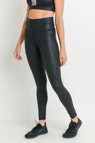 Black Foil Leggings - Curvy