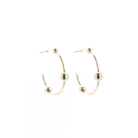 Ball Hoop Earrings