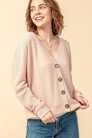 Buttoned Sweater Cardigan