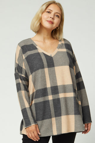 Plaid Time Long Sleeve - Curvy