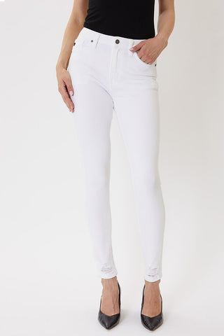 KanCan High Rise White Skinny