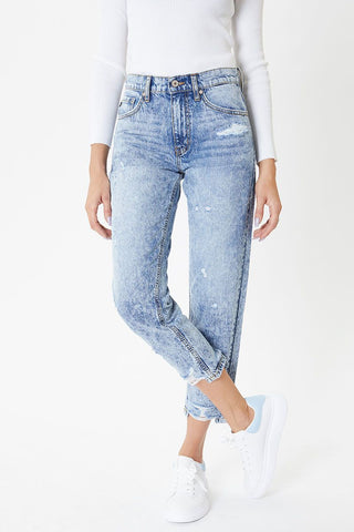 KanCan Acid Wash Mom Jean