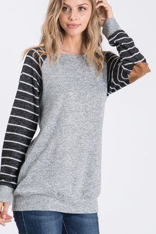 Elbow Patch Long Sleeve