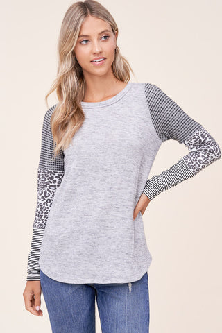 Pattern Block Long Sleeve