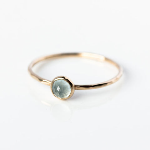 Aquamarine & 14k Gold Ring