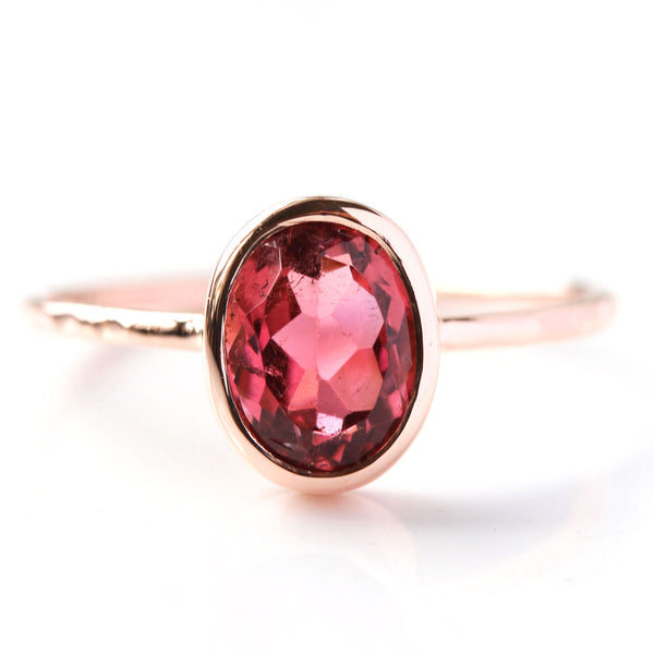 Garnet & 14k Gold Wildflower Ring