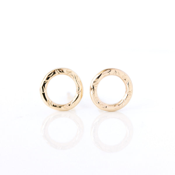 14k yellow gold Dahlia Stud Earrings