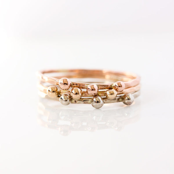 Seed Ring in 14k Rose Gold, Yellow Gold or White Gold
