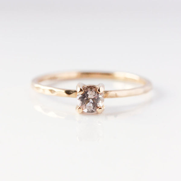 Morganite & 14k Gold Ring