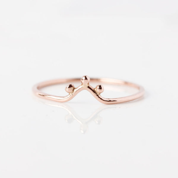 The Ourika Ring - fine 14k gold stacking ring