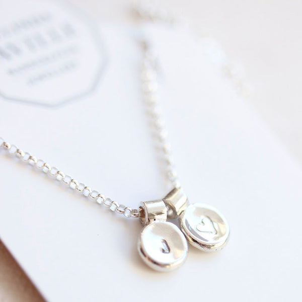 Personalised Pebble Necklace in Sterling Silver