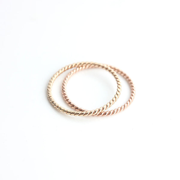 Rope Ring in 14k Gold