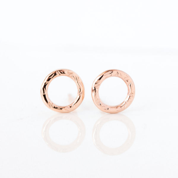 14k rose gold Dahlia Stud Earrings