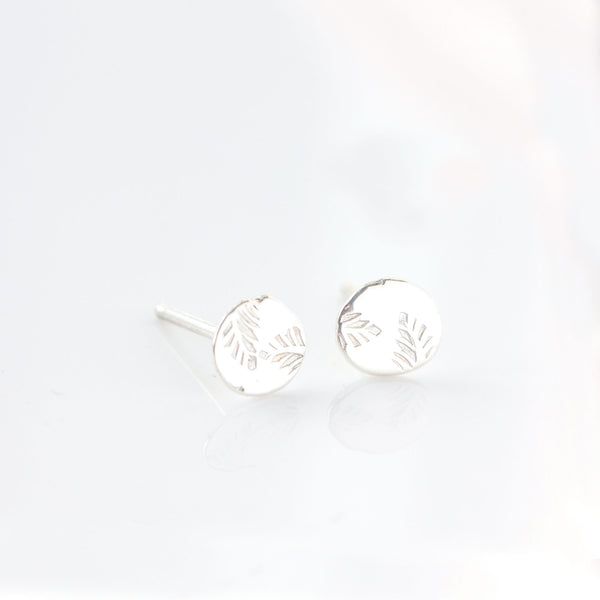 Sterling silver leaf earrings - The Angelica Stud Earrings