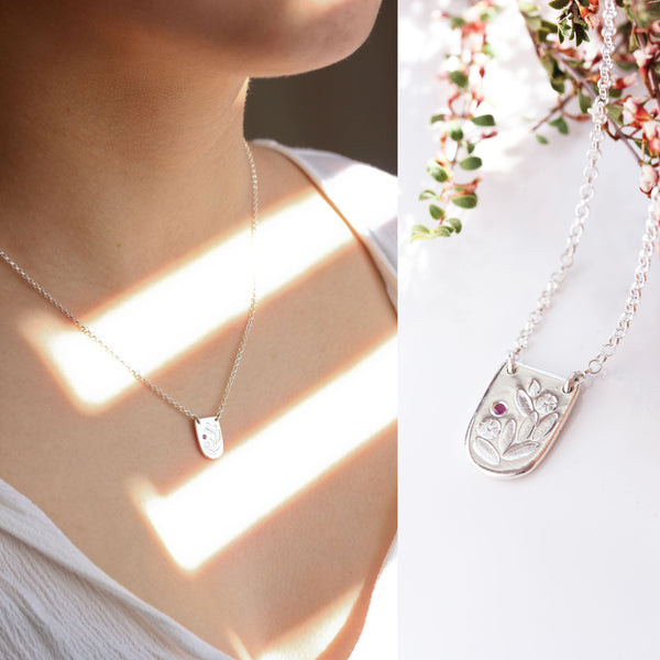 Sterling silver floral necklace - The Meadow Necklace