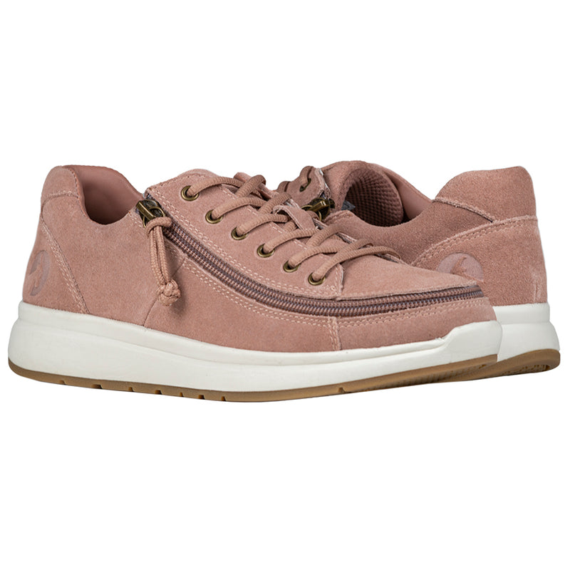 Women's Blush Suede BILLY Comfort Low - Wide (D)