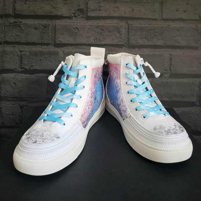 Dip your toes in the sparkle! One-of-a-kind Custom Billy High Tops