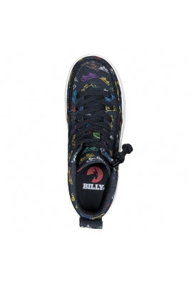 PRE ORDER Kid's Black Skateboards Billy Classic Lace High Tops (Due May/June)