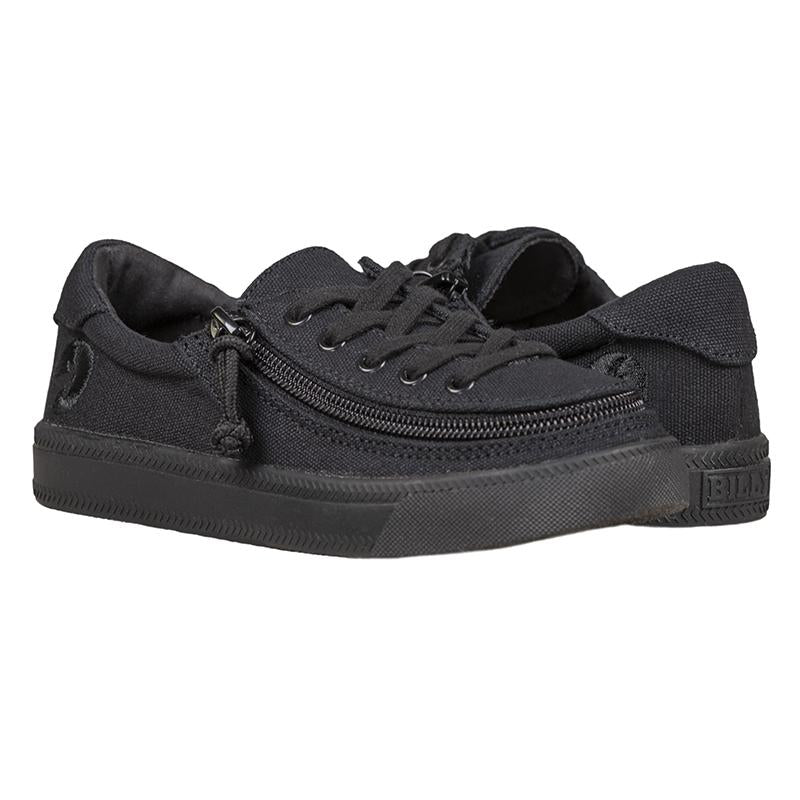 Kid's Black to the Floor Canvas BILLY Classic Lace Low