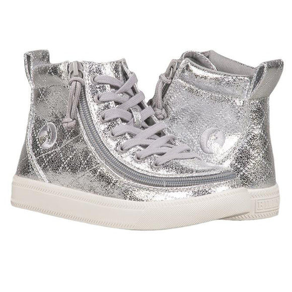 Kid's Silver Metallic High Top