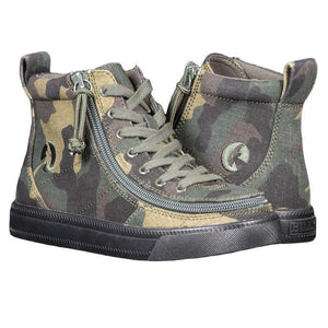 Kid's Green Camo BILLY Classic Lace High