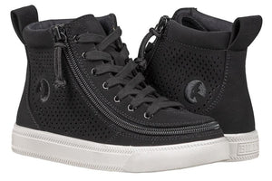 Kid's Black Perf Faux Leather BILLY Classic Lace High