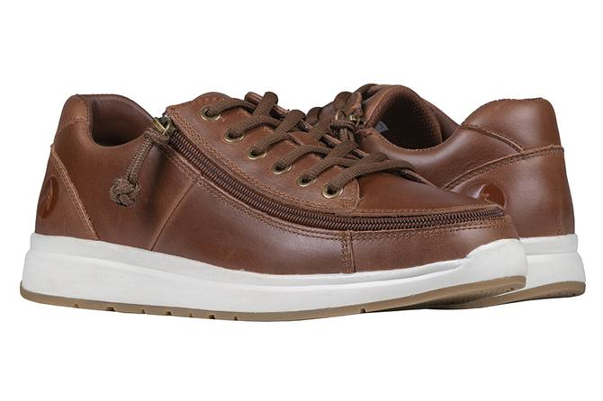 Mens Brown Leather Billy Comfort Lows - Wide EEE fit
