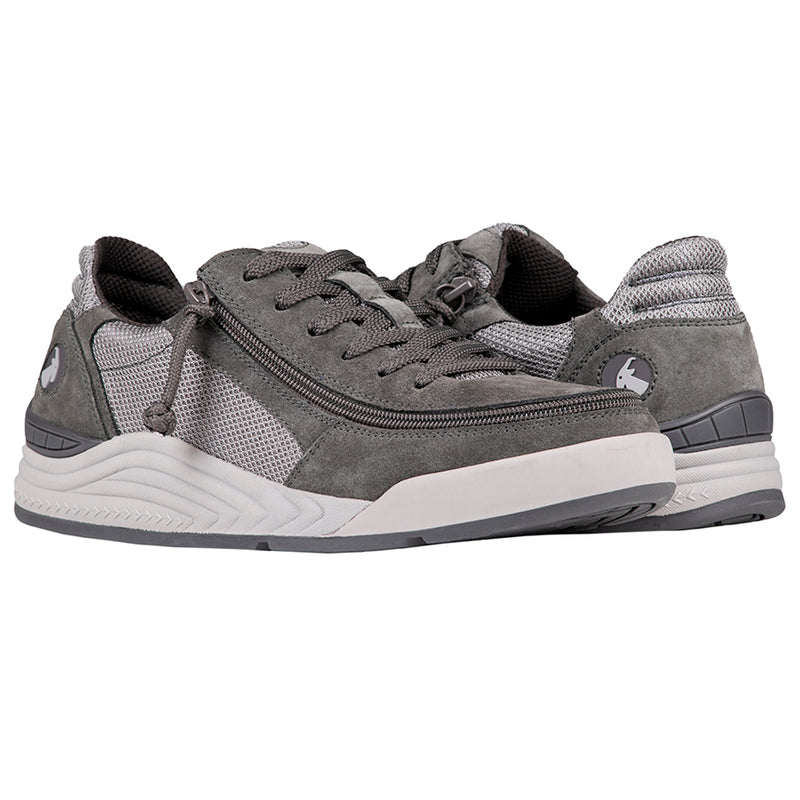 Men's Grey Suede / Mesh Charcoal BILLY Comfort Classic Low