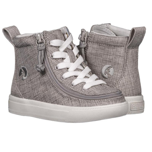 Toddler Grey Jersey BILLY Classic Lace High