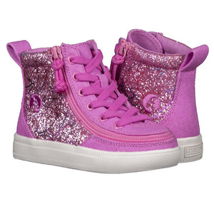 Toddler Pink/White Printed Canvas Lace High