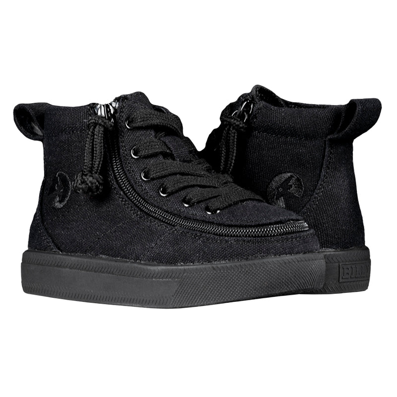 BACK ORDER Toddler Black to the Floor BILLY Classic WDR High Tops (Wide) Due approx May 2021