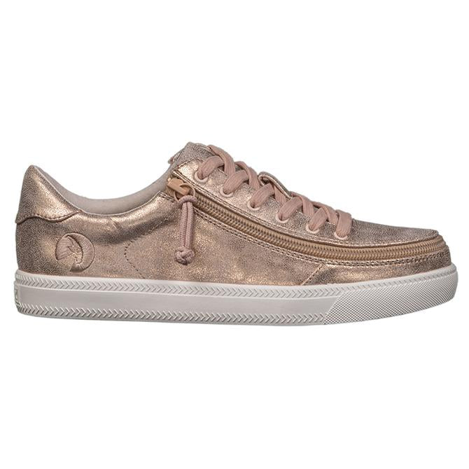 Women's Rose Gold Shine Billy classic lace lows