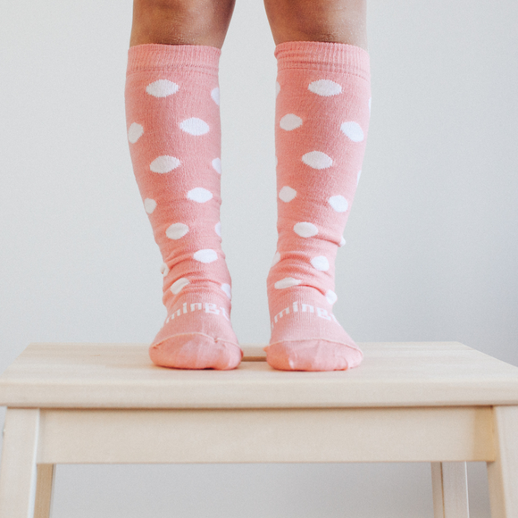 Lamington Merino knee high socks - Blossom