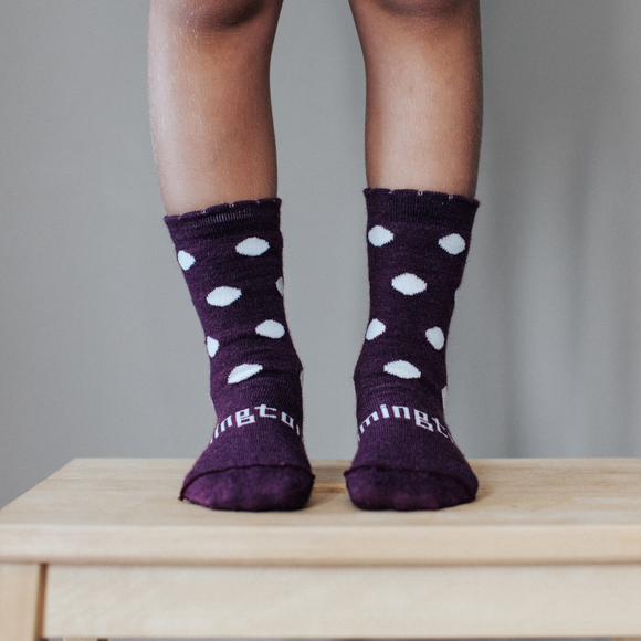Lamington Merino Crew socks - Mulberry