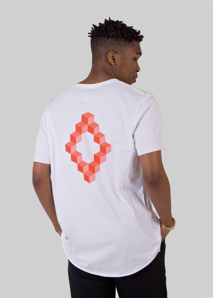 Men's CUBES Long T-Shirt-SWAN